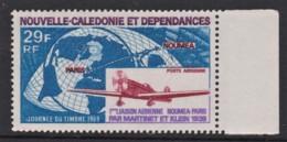 New Caledonia 1969 Air. Stamp Day. 1st Noumea - Paris Flight Ann. MNH   SG 465 - Neukaledonien