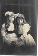 CARTE PHOTO ANCIENNE 1913 FILLETTES - Foto