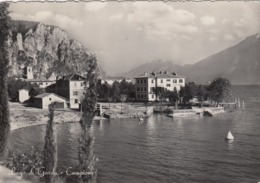 CAMPIONE DI TREMOSINE-BRESCIA-LAGO DI GARDA-CARTOLINA VERA FOTOGRAFIA-VIAGGIATA IL 16-8-1953 - Brescia