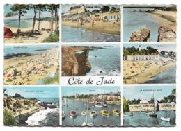 Cpsm 44 - La Côte De Jade - Multi-vues - (La Bernerie-en-Retz - Pornic, St-Brévin, Tharon-plage, Ste-Marie-sue-Mer...) - France