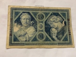 Germany 20 Marks Banknote 1915 - [ 2] 1871-1918 : German Empire