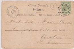 N°56  Relais  Gelinden 1901 - Postmarks With Stars
