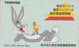 Télécarte Japon / 110-011 - BD COMICS - LAPIN BUGS BUNNY * TOSHIBA * - RABBIT Warner Bros Japan Phonecard - 115 - Comics