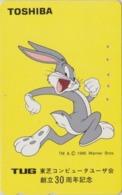 Télécarte Japon / 110-011 - BD COMICS - LAPIN BUGS BUNNY * TOSHIBA * - RABBIT Warner Bros Japan Phonecard - 118 - Comics