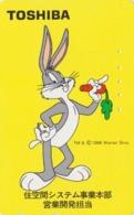 Télécarte Japon / 110-011 - BD COMICS - LAPIN BUGS BUNNY * TOSHIBA * - RABBIT Warner Bros Japan Phonecard - 120 - Comics