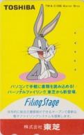 Télécarte Japon / 110-011 - BD COMICS - LAPIN BUGS BUNNY * TOSHIBA * - RABBIT Warner Bros Japan Phonecard - 123 - Comics