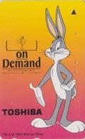 Télécarte Japon / 110-011 MATE - BD COMICS - LAPIN BUGS BUNNY * TOSHIBA * - RABBIT Warner Bros Japan Phonecard - 124 - Comics
