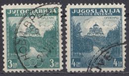 JUGOSLAVIA - 1937 - Serie Completa Formata Da 2 Valori Usati: Yvert 310/311. - Gebraucht