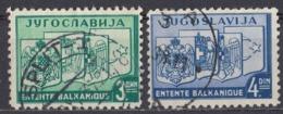 JUGOSLAVIA - 1937 - Serie Completa Formata Da 2 Valori Usati: Yvert 312/313. - Gebraucht