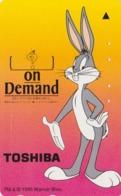 Télécarte Japon / 110-011 BRILLANTE - BD COMICS - LAPIN BUGS BUNNY * TOSHIBA * - RABBIT Warner Bros Japan Phonecard  125 - Comics