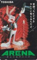 Télécarte Japon / 110-016 BRILLANTE - BD COMICS - LAPIN BUGS BUNNY * TOSHIBA * - RABBIT Warner Bros Japan Phonecard  127 - Comics