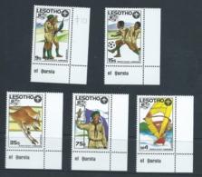 Lesotho 1987 Boy Scout Jamboree Set 5 Marginal MNH - Lesotho (1966-...)