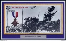 St Vincent & Gr. MNH SS,Medals World War I, Battle Of Ypres ( - WW1