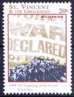 1939 Beginning Of 2nd World War, Millennium, St Vincent 2000 MNH    ( - WW2