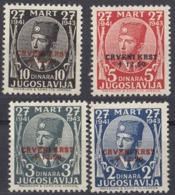 JUGOSLAVIA - 1943 - Serie Completa Formata Da 4 Valori Nuovi MNH: Yvert 5-8, Emissione Di Londra. - Beneficenza