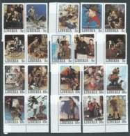 Liberia 1979 Boy Scout Norman Rockwell Paintings Set Of 50 MNH - Liberia