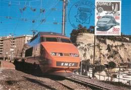 CPSM TRAIN  / MONACO / CARTE MAXIMUM - Trains