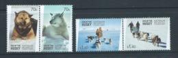 Australian Antarctic Territory 2014 Husky Dog Era Set Of 2 Pairs MNH - Unused Stamps