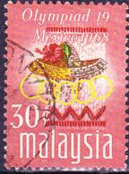 Malaysia - Olympiade Mexiko; Chinesischer Roseneibisch (Hibiscus Rosa-sinensis) (MiNr: 53) 1968 - Gest Used Obl - Malaysia (1964-...)