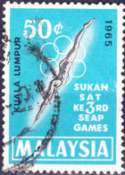 Malaysia - 3. Südostasiatische Sportspiele (MiNr: 29) 1965 - Gest Used Obl - Malaysia (1964-...)