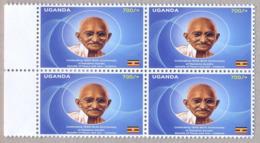 UGANDA 2019 New Stamp Issue GANDHI Birth Anniversary 4-block OUGANDA - Uganda (1962-...)