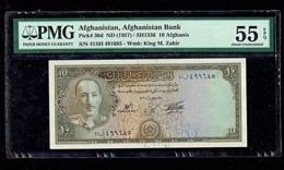 Afghanis 10 Afg. (1957). PMG55. - Afghanistan