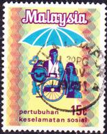 Malaysia - Einführung Einer Sozialversicherung. (MiNr: 100) 1973 - Gest Used Obl - Malaysia (1964-...)