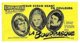 KINOPANORAMA PARIS - TICKET DE CINEMA ILLUSTRE DU FILM LA BOURRASQUE D APRES ALEXANDRE POUCHKINE 1965, VOIR LES SCANNERS - Pubblicitari