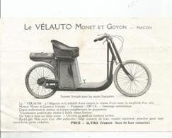 MACON : LE VELAUTO MONET ET GOYON , LA ROUE MOTRICE - Publicités