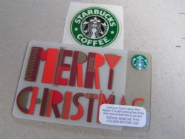 Starbucks New PIN Covered United Kingdom  Card  6112 Merry Christmas - Gift Cards