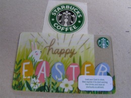 Starbucks New PIN Covered United Kingdom  Card  6135 Happy Easter - Gift Cards