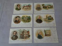 Beau Lot De 10 Cartes Postales De Fantaisie Compositeur De Musique    Mooi Lot 10 Postkaarten Van Fantasie Muziek - Postkaarten