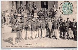 54 MOULAINE - Grèves Du Bassin De Longwy. Entrée De L'usine Gardée(Gendarmes) - Altri Comuni