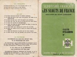 CARTE SCOUTS DE FRANCE 1967 - Padvinderij
