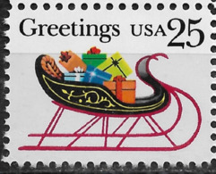 USA 1989, Christmas Greetings 25c, Scott # 2428,VF MNH**OG - Christmas