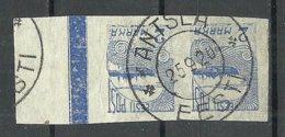 ESTLAND ESTONIA 1920 Michel 17 Pair With Nice Margin O ANTSLA - Estland