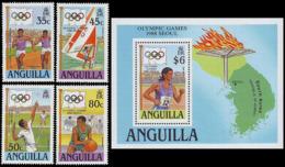 ** Anguilla - 1988 - Olympic Games 1988 - Mi. 782-5, Bl. 80 - Summer 1988: Seoul