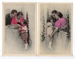 CP - PARENTS ET ENFANT - 2 Cartes - Groupes D'enfants & Familles