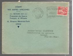 23158 - SECOURS AU P.G. FRANCAIS ET AFRICAINS - Marcophilie (Lettres)