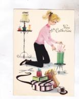 CPM AVEC FEUTRINE TYPE NOIRE A CERTAINS ENDROITS, (pantalon,  Etc), VIVE STE CATHERINE - Sainte-Catherine