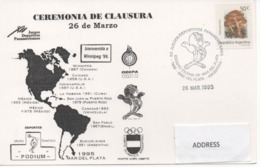 Argentina,  Pan American Games Mar De Plata 1995 - Hockey (Field)