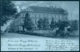 Serbia / Hungary: Nagy-Kikinda (Kikinda/Velika Kikinda/ Groß-Kikinda/Chichinda Mare), Mokrincz Gasse - Hotel Bohn 1899 - Serbia