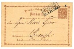 Deutsche Reichs-Post, Postkarte, Landeshut In Schlesien 1875 Nach Kurnick, Provinz Posen - Preussen