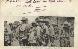 Les Prmières Troupes Américaines Débarquées En France (Juin 1917) RV Correspondance Des Armées De La Republique TP 140 - Guerra 1914-18