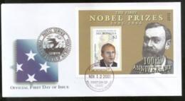 Micronesia 2001 Chemistry Nobel Prize Winner Sc 471 M/s FDC # 16621 - Nobel Prize Laureates