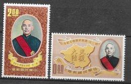 Formose Taiwan   N°  369  Et 370  Tchang Kaï Chek Neufs * *   TB  =  MNH  VF   Soldé ! ! ! Le Moins Cher Du Site ! ! ! - 1945-... Republik China