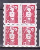 N° 2712 Type Marianne Du Bicentenaire Avec La Lettre D: Bloc De 4 Timbres Neuf Impeccable - Unused Stamps