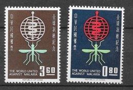 Formose Taiwan   N°   401 Et 402  Paludisme   Neufs * *   TB  =  MNH  VF   Soldé ! ! ! Le Moins Cher Du Site ! ! ! - Nuevos