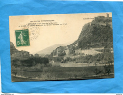SISTERON-la Clue De La Durance -les Bales éclairant Grand Escalier Du Fort-a Voyagé En 1907-édition  Col Clergue - Sisteron