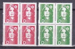N° 2711 Et  2712 Type Marianne Du Bicentenaire Avec La Lettre D: Bloc De 4 Timbres Neuf Impeccable - Unused Stamps